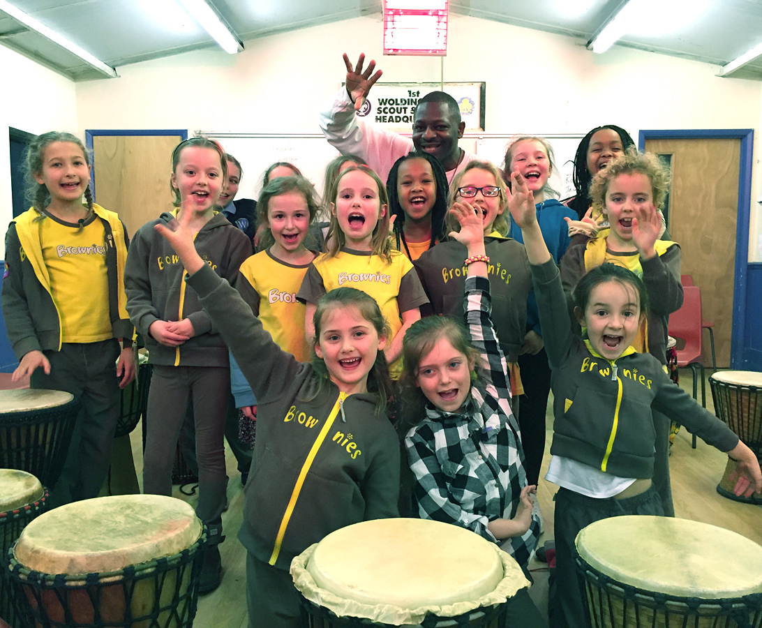 1st Woldingham Brownies - African Drum Night