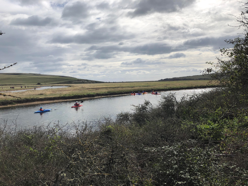 Beavers, Cubs and Scouts kayaking